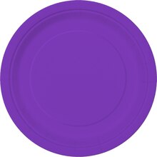"9"" Neon Purple Party Plates, 16ct"